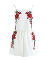 Women's Dailywear Lovely Spring Summer Tank Top Pant Suits,Embroidery Strap Sleeveless
