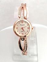 Femme Montre Bracelet Bracelet de Montre Quartz Plaqué Or Rose Alliage Bande Etincelant Cool Or Rose
