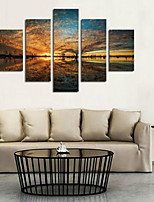 Art Print Landscape Classic Five Panels Horizontal Print Wall Decor For Home Decoration