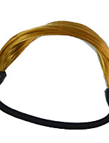 2 Pieces Hair Tie Plastic Hair Ponytail Hair Tools Medium Golden Brown