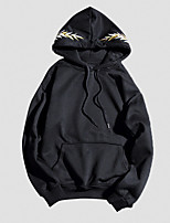 Men's Casual/Daily Hoodie Solid Hooded strenchy Cotton Long Sleeve Spring Summer