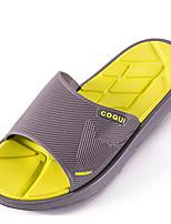 Men's Slippers & Flip-Flops Comfort PVC Spring Casual Comfort Yellow Flat
