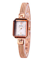 Women's Fashion Watch Bracelet Watch Quartz Water Resistant / Water Proof Alloy Band Sparkle Casual Silver Gold Rose Gold