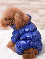 Dog Clothes/Jumpsuit Dog Clothes Casual/Daily Keep Warm Solid Ruby Dark Blue Black