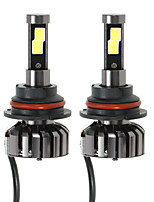 KKmoon Pair of 9004 HB1 DC 12V 40W 4000LM 6000K LED Headlight Lamp Kit Light Bulbs