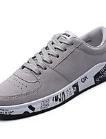 Homme Chaussures d'Athlétisme Confort Polyuréthane Printemps Automne Décontracté Talon Plat Noir Gris Kaki Plat