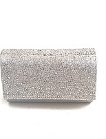 Women's Stone Beaded Delicate Clutches Evening Bag Gold/Silver/Black/Blue/Champagne