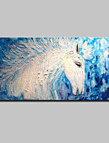 Hand Painted White Horse Animal Oil Painting On Canvas Modern Abstract Wall Art Picture For Home Decoration Ready To Hang