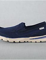 Masculino Mocassins e Slip-Ons Conforto Arrastão Tecido Verão Outono Casual Conforto Rasteiro Preto Azul Escuro Cinzento 2,5 a 4,5 cm