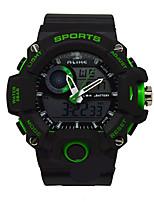 Муж. Спортивные часы электронные часы Кварцевый Pезина Группа Черный