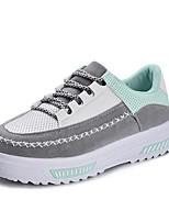 Women's Sneakers Comfort PU Tulle Spring Casual Comfort Light Pink Gray Black Flat