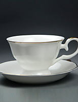 Bone Porcelain Coffee Cup  White Side Coffee Tea Cup