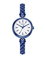 Femme Montre Tendance Bracelet de Montre Japonais Quartz Etanche Cuir Bande Bleu Argent Doré Or Rose