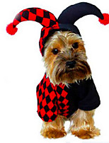 Dog Costume Coat Dog Clothes Cute Casual/Daily Cosplay Halloween Geometic Grid