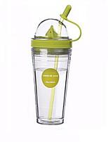 Drinkware 560ml PP AS  PVC Material Juice Water Daily Drinkware