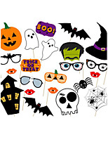 22pcs Halloween Photo Booth Props Photobooth Party Decoration