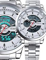 Male Sport Watch Multifunction LED Digital Clock Dual Time Hours Wrist Analog Round Fashion Casual Quartz Men Sport Wristwatch relogio masculino