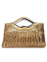 Women Evening Bag Polyester All Seasons Wedding Event/Party Formal Party & Evening Club Shopper Sequined ZipperRuby Coffee Silver Black