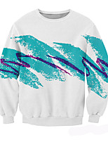 Men's Casual/Daily Simple Sweatshirt Print Round Neck Micro-elastic Cotton Long Sleeve