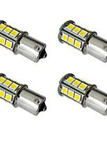 4pcs 1156 ba15s / bay15d 1157 2.5w lampe de voiture à la main 24 smd 5050 feu arrière / feux de freinage / allume-cigare 12v blanc / blanc