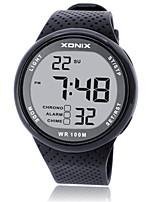 Homens Relógio Esportivo Relógio Inteligente Digital Impermeável Noctilucente Borracha Banda Preta Azul Cinza