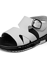 Boys' Sandals Comfort Leatherette Summer Fall Wedding Outdoor Office & Career Party & Evening Casual Bowknot Magic Tape Low HeelBlack