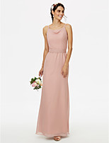 2017 LAN TING BRIDE Floor-length Spaghetti Straps Bridesmaid Dress - Elegant Sleeveless Chiffon