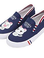 Для женщин На плокой подошве Удобная обувь Полиуретан Весна Повседневный Белый Черный Синий На плоской подошве