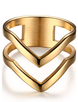 Women's  Vintage  Elegant Titanium Steel 18K gold Ring Jewelry For Wedding Party/ Evening  Daily