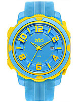 Women's Fashion Watch Quartz Water Resistant / Water Proof Rubber Band White Blue Pink
