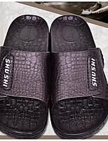 Herren Slippers & Flip-Flops Komfort PVC Leder PP (Polypropylen) Frühling Normal Komfort Schwarz Blau Dunkelbraun Flach