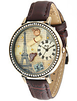 Women's Fashion Watch Japanese Quartz Water Resistant / Water Proof Leather Band Brown