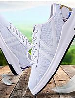 Men's Sneakers Comfort Breathable Mesh Tulle Spring Casual White Black Gray Flat