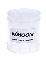 Kkmoon 25pcs airbrush dispositivi eyedroppers gocce di plastica pipette droppers per il trasferimento liquido e vernice airbrush