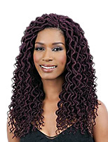 1packgodess locs Soft dreadlocs crochet braids with curly end kanekalon fauxlocs hair extension synthetic braiding hair 5pack for a head