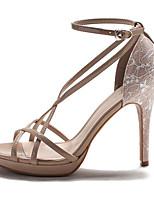 Для женщин Обувь на каблуках Полиуретан Весна Черный Телесный На плоской подошве
