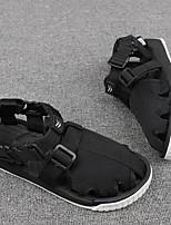 Men's Sandals Comfort Tulle Spring Casual White Black Flat