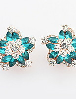Korean Style Fashion  Luxury Elegant  Flower  Rhinestone  Women's Daily Ear Clips Gift Jewelry