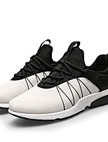 Men's Sneakers Comfort Tulle Spring Daily White Black Gray Flat