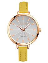 Женские Модные часы Кварцевый PU Группа Белый Красный Желтый