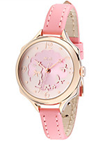 Women's Fashion Watch Quartz Leather Band White Pink