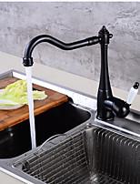 Conjunto Central Monocomando e Uma Abertura for  Bronze Polido a Óleo , Torneira de Cozinha