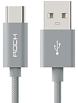 ROCK USB 2.0 Cable, USB 2.0 to USB 2.0 Tipo C Cable Macho - Macho 1,0 m (3 pies)