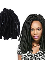 soft dreadlocs crochet braids with curly end kanekalon fauxlocs hair extension synthetic braiding hair ombre brown 1pc