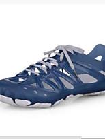 Men's Sandals Comfort PU Rubber Spring Casual Comfort Navy Navy Blue Black Flat