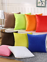 1 Pcs Candy Color Velveteen Pillow Cover 9 Solid Color Pillow Case