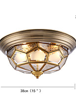 Flush Mount ,  Tiffany Oil Rubbed Bronze Feature for Anti-Glare Eye Protection Metal Indoors Indoor Hallway 3 Bulbs