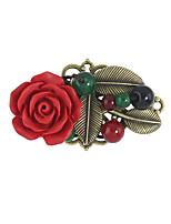 Dámské Brože Květiny Slitina Flower Shape Šperky Pro Ležérní