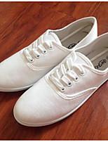 Women's Sneakers Comfort Canvas Spring Casual Fuchsia Orange White Flat