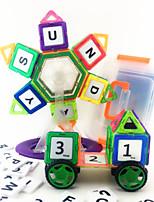 97PCS 3D Magnetic Novelty Assembly Building Blocks DIY Early Educational Construction Toys Set Kid Magnet Model Designer Building Jigsaw Toys Kit